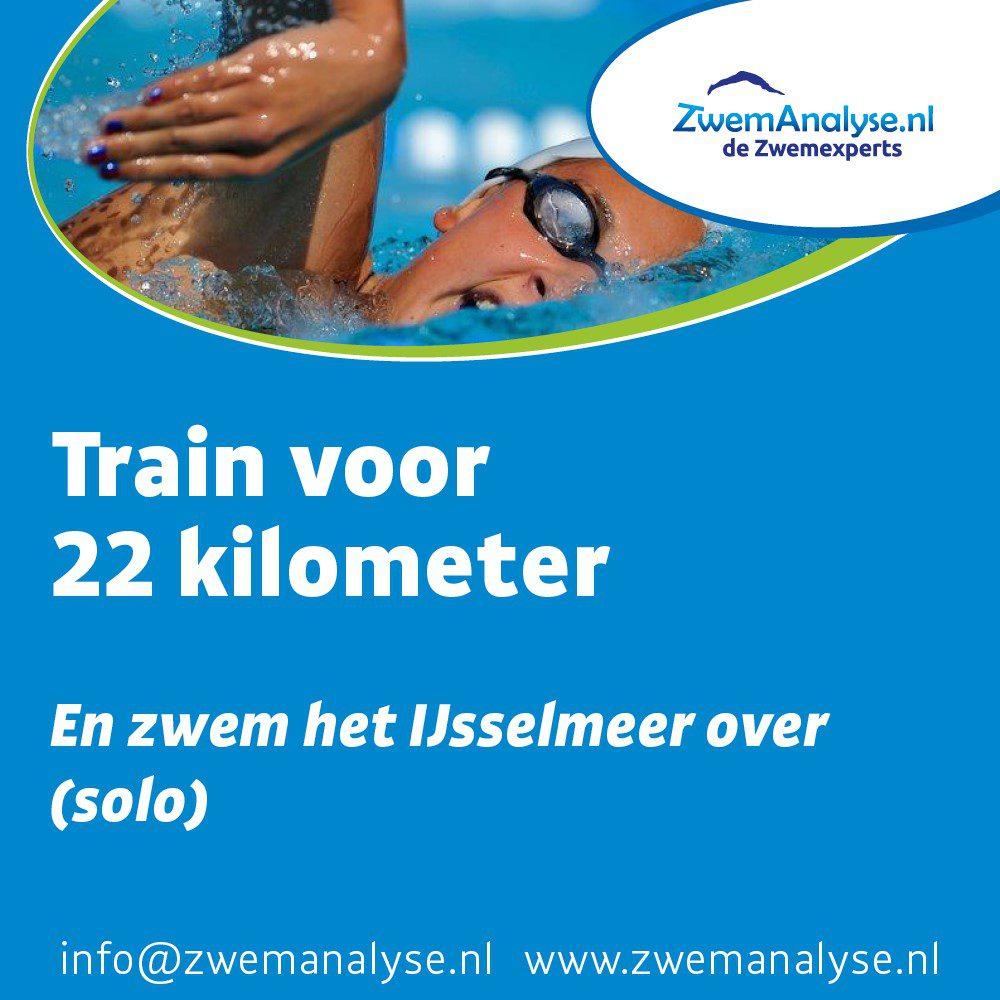 22 KM solo trainingsschema zwemmen