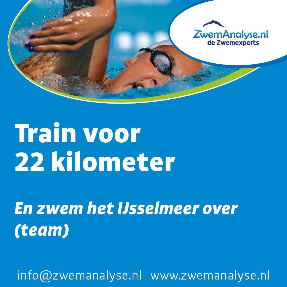 22 KM team trainingsschema zwemmen
